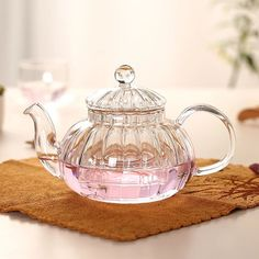 High temperature resistant glass tea cup glass teapot