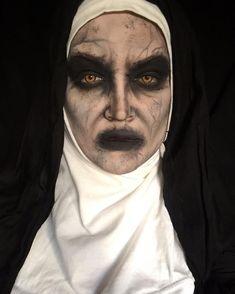 maquillaje monja endemoniada