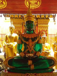 Green Buddha at the Wat Prathat Doi Suthep temple, near Chiang Mai, Thailand. Photo: Pat Johnson