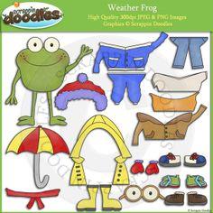 Weather Frog Dress Up Clip Art