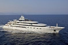 Famous charter superyacht O'mega is   82-meters long and is currently asking  €57,000,000.