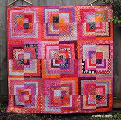 half log cabin quilt