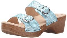 Dansko Women's Sophie Turquoise Snake Wedge Sandal * You can get more details here : Dansko sandals