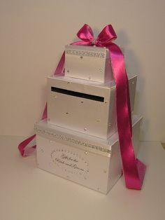 Wedding Card Box Gift Card Box Money Card Box -customize your color via Etsy