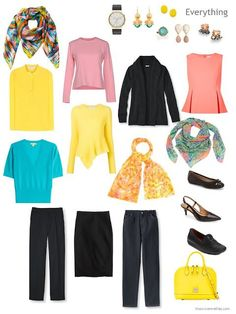 Capsule Wardrobe Color Palette inspired by Nature: Black and Yellow Broadbill
