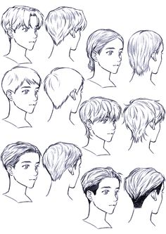 Improve The Look Of Your Hair With These Excellent Tips Anime Boy Hair, Manga Hair, Anime Drawings Sketches, Anime Sketch, Pencil Drawings, Hair Drawings, Drawing Faces, Boy Hair Drawing, Pelo Anime