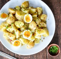 boiled egg nutrition Potato Salad with Soft-Boiled Eggs and Maple Mustard Dressing is a summer picnic recipe that you need to add to your recipe box! Potato Salad Mayonnaise, Potato Salad Dill, Potato Salad Mustard, Potato Salad Dressing, Potato Salad Recipe Easy, Salad Dressing Recipes, Salad Recipes With Bacon, Healthy Salad Recipes, Chips Ahoy