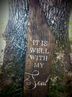 Reclaimed Wood Hand Painted Sign It Is Well With by Lightonthehill, $65.00