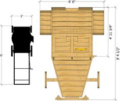 Top isometric view of the hot rod playhouse plan