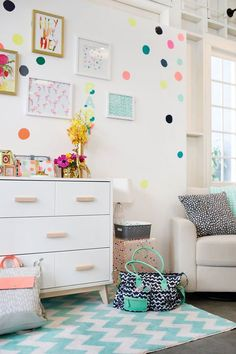 so fresh and so fun for a girl's room.