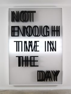 Doug Aitken [American artist, b. 1968] | Not Enough Time In The Day [LED lit light box, 2013 – 303 Gallery, New York]