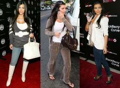 The reality star ditched some of these looks from the early long before she ever parted with her cell Kendall And Kylie Jenner, Kris Jenner, Kardashian Kollection, Kardashian Jenner, Celebrity Dresses, Celebrity Style, Kim K Style, Jenner Sisters, Kanye West