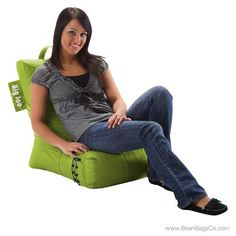 Comfort Research Big Joe Video Lounger - Spicy Lime | ON SALE: $65.99 Free Shipping + No Sales Tax.