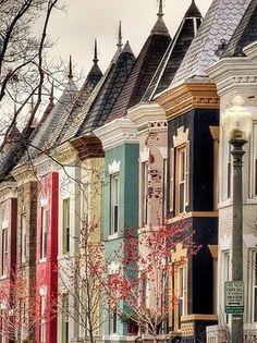 The houses! - A. Flores Row houses, Washington, DC