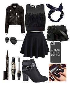 """""""Black out"""" by cunnina on Polyvore featuring Miss Selfridge, Disney, Balenciaga, Avenue, Max Factor, Smith & Cult, Boohoo, Ray-Ban, WithChic and Étoile Isabel Marant"""