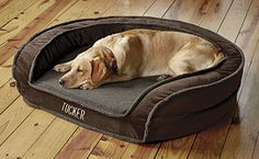 Our Deep Dish Dog Bed is fleece-lined to provide your companion with the comfort she deserves.