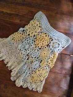 Freeform~crazy crochet motif skirt by crochetology http://crochetology.net/page/4/