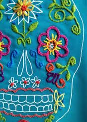 sugar skull embroidery - Google Search