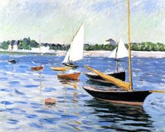 The Athenaeum - Sailing Boats on the Seine at Argenteuil (Gustave Caillebotte - )