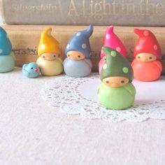 polymer clay elves~ LOVE!