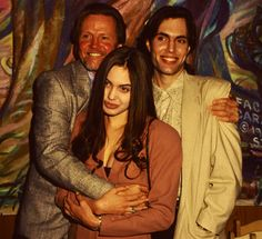 Young Angelina Jolie with her father .... strange picture hmm