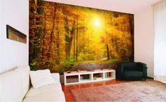 Duża fototapeta w salonie #salon #fototapeta #fototapety