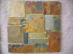 Slate Stone Mosaic Random Tiles Kitchen Backsplash Free Priority Shipping   eBay