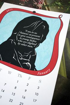 2015+Calendar+Pride+and+Prejudice+Characters+Mr+by+10cameliaway