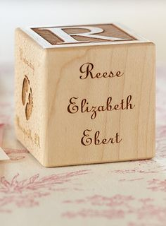 The perfect baby gift!  A personalized wooden block!