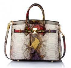 3c761d11090 Red Genuine Snakeskin Red Tote Bag Luxury Lock Handbags Women Designer    Rudelynssarisaristore - on ArtFire