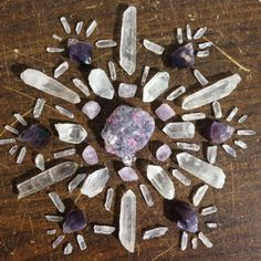 finchfeathers: lepidolite with pink tourmaline is too gorgeous… Crystal Magic, Crystal Grid, Crystal Healing, Healing Stones, Chakra Crystals, Crystals And Gemstones, Stones And Crystals, Crystal Mandala, Pink Tourmaline
