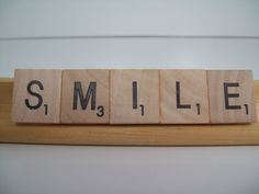 SMILE, Handmade Magnet,  Upcycled/Recycled Magnet,  Wood Letter Tile Magnet, Inspirational, Motivational, Refrigerator, Office Magnet. by FancyStitchings on Etsy