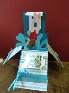 making a splash on your birthday  by clare the crafty cow