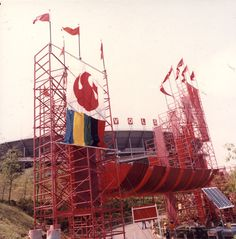 World's Fair Entrance (Red Gate) and Neyland Stadium, Photographs of Tennessee Cities Collection. Smoky Mountains Cabins, Great Smoky Mountains, Neyland Stadium, Orange Country, East Tennessee, World's Fair, The Good Old Days, Genealogy, Childhood Memories