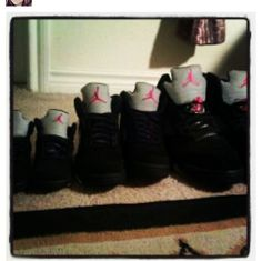 Like Father like sons ... All matching Jordan 5s
