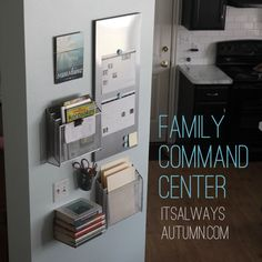 keep everyone organized with this easy family command & homework center - links to sources for items included - itsalwaysautumn.com