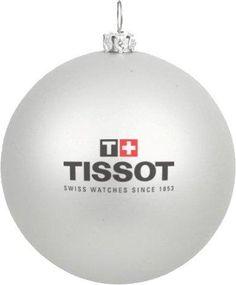 Bedrukte kerstbal, zilver, met Tissot logo in 2 kleuren