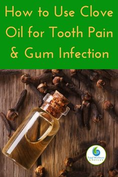 Learn how to use clove essential oil for toothache and gum disease, to help you fight dental infections and improve your oral health. Clove Oil For Teeth, Clove Oil For Toothache, Coconut Oil For Teeth, Coconut Oil Pulling, Clove Oil Uses, Clove Oil Benefits, Health Benefits, Clove Essential Oil, Essential Oil Uses