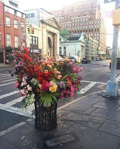 NY bukiety kwiaty ulice  proj.Lewis Miller