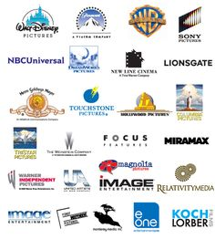 Movie Studios' Logos: Walt Disney Pictures, Paramount Pictures, Warner Bros., Sony Pictures, NBC Universal, DreamWorks Pictures, New Line Cinema, Lionsgate, MGM, Touchstone Pictures, Hollywood Pictures, Columbia Pictures, Tri Star Pictures, The Weinstein Company, Focus Features, Miramax Films, Warner Independent Pictures, Paramount Classics, Paramount Vantage, Fine Line Features, Relativity Media, Summit Entertainment, Samuel Goldwyn Films, HBO, Hallmark Hall of Fame, United Artists, Nationa...