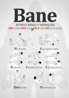 Bane upper body strength workout.