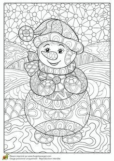 Coloring Pages eBook: Zentangle Snowman Free printable Winter coloring pages for use in your classroom and home from PrimaryGames.Free printable Winter coloring pages for use in your classroom and home from PrimaryGames. Adult Coloring Pages, Snowman Coloring Pages, Coloring Pages Winter, Christmas Coloring Pages, Coloring For Kids, Printable Coloring Pages, Colouring Pages, Coloring Books, Winter Art