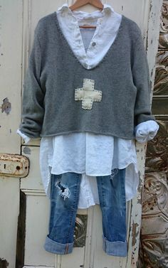 Boho jeans - Clothes for Diy And Crafts Look Fashion, Diy Fashion, Fashion Outfits, Womens Fashion, Boho Jeans, Denim, Looks Style, My Style, Trendy Style