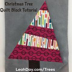 Christmas tree quilt block pattern