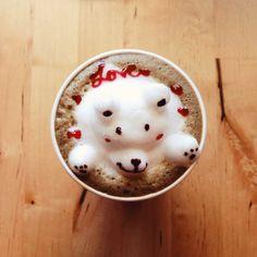 A latte of love. #coffeeart #foodspotting #foodporn #3dlatte