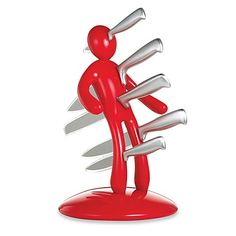 The EX® Second Edition Kitchen Knife Set in Red