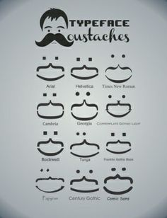 Typeface Moustaches by Kody Christian by roxie