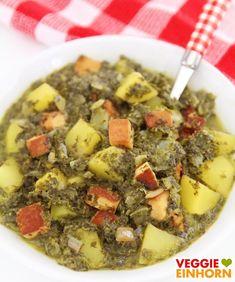 VEGANER Grünkohleintopf mit Kartoffeln & Räuchertofu | Deftiges veganes Rezept | mit VIDEO