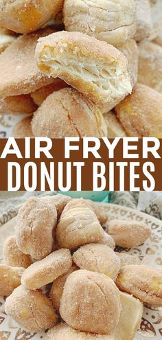 Air Fryer Donut Bites – Foodtastic Mom – Air Fryer recipes and tips Air Fryer Recipes Dessert, Air Fryer Recipes Vegetarian, Air Fryer Recipes Breakfast, Air Fryer Oven Recipes, Cooking Recipes, Easy Recipes, Air Fryer Recipes Donuts, Snacks Recipes, Healthy Recipes