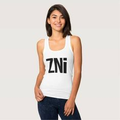 (ZNi Logo Racerback Ladies Tanktop) #Zni is available on Funny T-shirts Clothing Store   http://ift.tt/2e6EENY